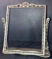 Vintage Swing Tilt Silver/Gray Picture Frame Art Deco Wood No glass