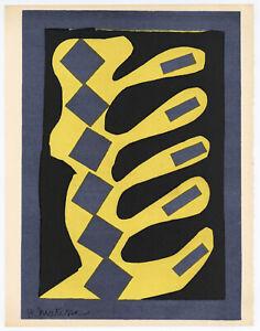 Henri Matisse lithograph printed in 1954 - rare