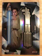 2018 Topps Finest Star Wars Rey lightsaber hilt relic medallion #/99