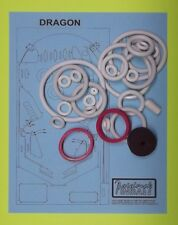 1978 Gottlieb Dragon pinball rubber ring kit