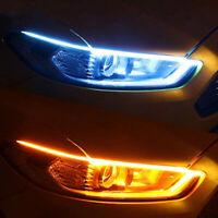 45cm Ultra Thin Car Soft Tube LED Strip Daytime Running Lights Turn Signal Lamp!