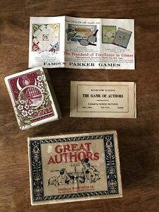 vintage authors card game 49 Cards Rules Included