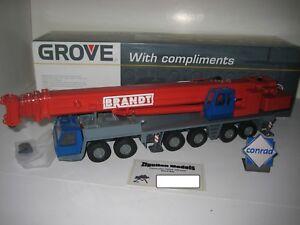 Grove Gmk 6300 Autokran Brandt #2091 Conrad 1:50 Emballage D'Origine