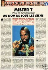 Coupure de presse 1993 (3 pages) Barracuda Mister T Agence Tous Risques