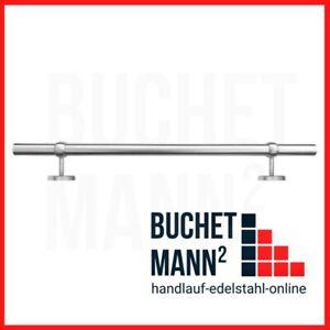 Handlauf Brüstung Edelstahl Kugelring Geländer **bis 3 Meter Einteilig!!!**