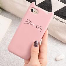 Phone Case For IPhone X 7 6 3D Cute Cartoon Cat Ear Silicone Phone Cover