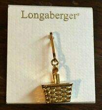 Longaberger Mini Basket Replica ZIPPER PULL Brand New with Tags *Spring Gold*