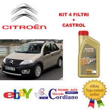 KIT 4 FILTRI TAGLIANDO CITROEN C3 1.4 HDI + OLIO CASTROL EDGE 5W40