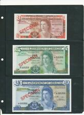 Government of Gibraltar specimen banknotes