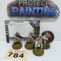 Star Wars Legion - Stormtroopersx4  (Core) - Painted - (784)