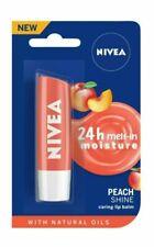 Nivea Fruity Peach Shine Caring Moisturising Tinted Lip Balm Chap Stick 4.8g
