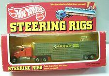 "Hot Wheels 1982 Steering Rigs ""WHITE CATTLE""  Semi Tractor Trailer"