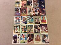 HALL OF FAME Baseball Card Lot 1979-2020 ERNIE BANKS CHIPPER JONES WILLIE MAYS +