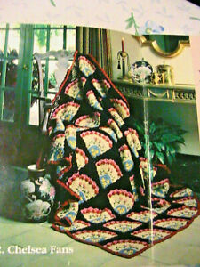 VICTORIAN AFGHAN COLLECTION I~5 Red Heart~Crochet Worsted patterns OOP 1992 RARE
