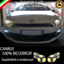 COPPIA LUCI POSIZIONE 5 LED VOLKSWAGEN SCIROCCO T10 W5W CANBUS 100%  NO ERROR
