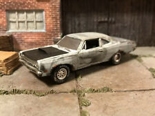 1969 Plymouth Roadrunner Rusty Weathered Barn Find Custom 1/64 Diecast Farm Rust