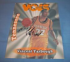 Tennessee Volunteers Vincent Yarbrough Signed Autographed 8x10 Photo B