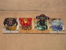 4x Bakugan Black Darkus El Condor, Terrorclaw, Wilda, Clayf with Gate Cards