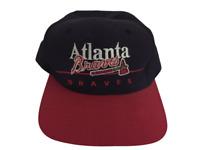 Vintage Atlanta Braves MLB Snapback Hat - OSFA - RARE - Spell Out Logo