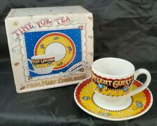 "Mary Engelbreit Tea Cup & Saucer ""Time for Tea"" *Make Welcome the Present Guest*"