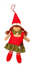 My Doll Bambola Elfo Natale con orologio - Addobbo albero cod. GZ005
