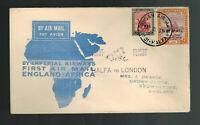 1931 Khartoum to England First Flight Cover via Imperial Airways FFC