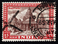 INDIA #222 Used 1949 TEMPLE Top Value SCV $35.00
