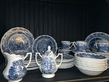J & G Meakin England China America Hurrah 45 Piece Dinnerware Set