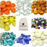 Round Glass Pebbles - Home - Wedding -Vases - Art- Various Quantities & Colours