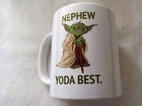 Nepew Yoda best 11oz ceramic mug gift birthday xmas present