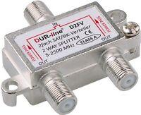 SAT Verteiler 2-fach Splitter BK-SAT 2 Way Splitter Dur-line® D2FV 1x IN 2x OUT