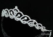 Hochzeit Handgefertigt Stilvoll Kristall Diadem Tiara T1407