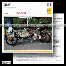 #040.04 DERNY 100 CYCLO TANDEM 1953 Fiche Moto Classic Bike Motorcycle Card