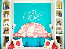 MONOGRAM INITIALS PERSONALIZED Vinyl Wall Decal Lettering Words Graphics Sticker