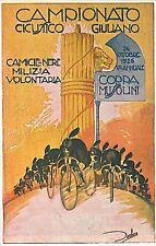 cartolina Epoca: CAMICIE NERE - CAMPIONATO CICLISTICO !