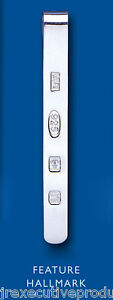 Tie Slide Solid Sterling Silver Feature Hallmark Men's Gents