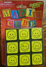 Vintage Magic Cube New in Original Package! Rubix Cube happy face