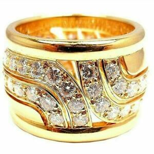 .fashion 18k Yellow Gold Plated Women Ring White Sapphire Wedding Ring Size 8