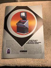 13 1/2-10� Rowe Jukebox V/mec 89 Ad Flyer