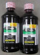 Q-Tussin DM Liquid Cough Syrup & Congestion 8oz (2 pack) PHARMACY GRADE!