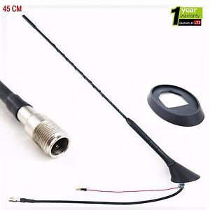 SEAT IBIZA LEON BLACK BEE STING CAR VAN AERIAL ARIEL RADIO ANTENNA + BASE