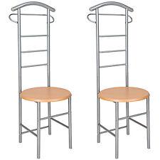 2x Valet de chambre chaise valet de nuit vêtements rangement cintre penderie