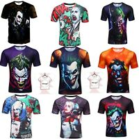 New Joker 3D T-shirt Full Print Graphic Tee Men Women Fashion Size S - 7XL