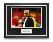 Jose Mourinho Signed Photo Framed 16x12 Man Utd Autograph Memorabilia + COA