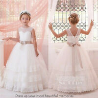 White Tulle Flower Girl Dresses Ivory Bridesmaid Dress Party Birthday Prom Dress