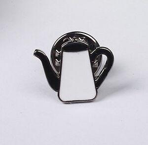 New Barista Cafe Geek Lover Coffee Gooseneck Tea Coffee Pot Pin Brooch Badge
