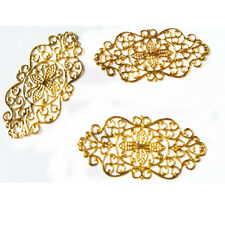 New 30 Gold Filigree Wraps Alloy Connectors Embellishments 6.0cm*2.7cm