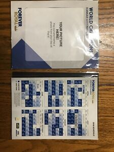 2 Kansas City Royals 2016 Schedule Magnet Forever Royal Frame Sealed SGA 4/3/16