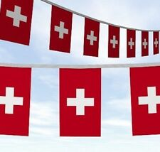 RUSSIA WORLD CUP 10 METRES 33FT SWITZERLAND SWISS SUISSE FLAG BUNTING