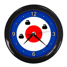 CURLING HOUSE TARGET CIRCLE THEMED WALL CLOCK